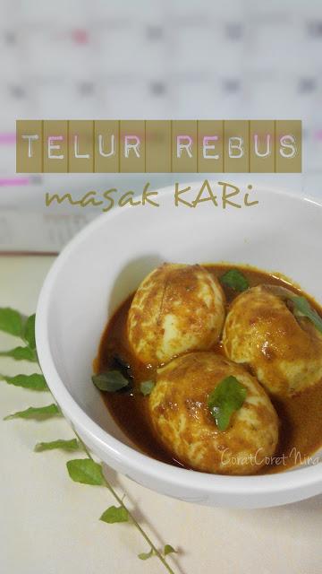 Telur Rebus Masak Kari paling mudah