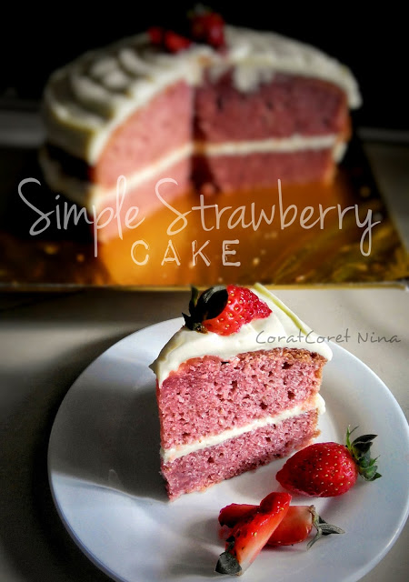 simple strawbery cake blend