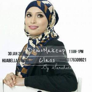 nak cantik makeup kelas SaraHata