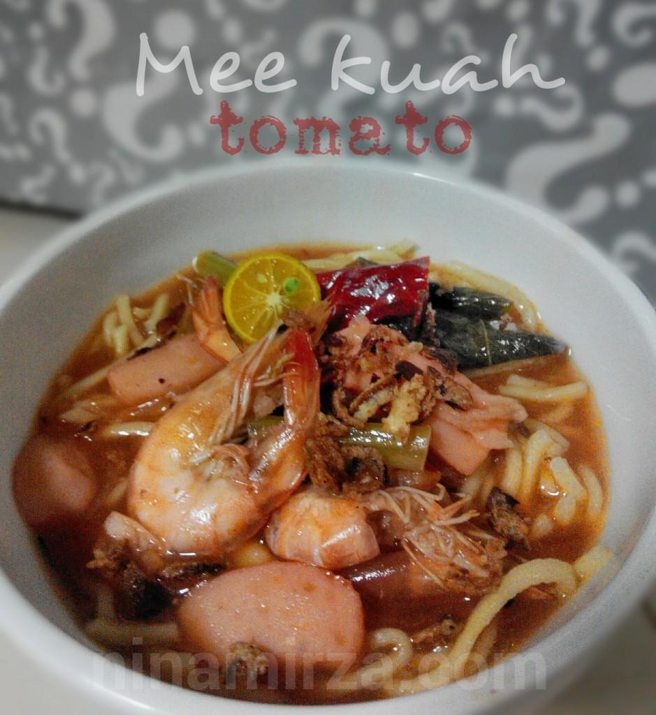 Mee Kuah Tomato Tak Pedas Mudah Sedap