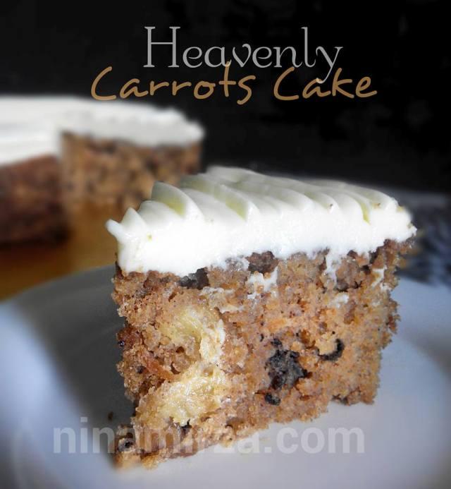carrots cake sedap moist macam secret recipe mudah senang buatnya