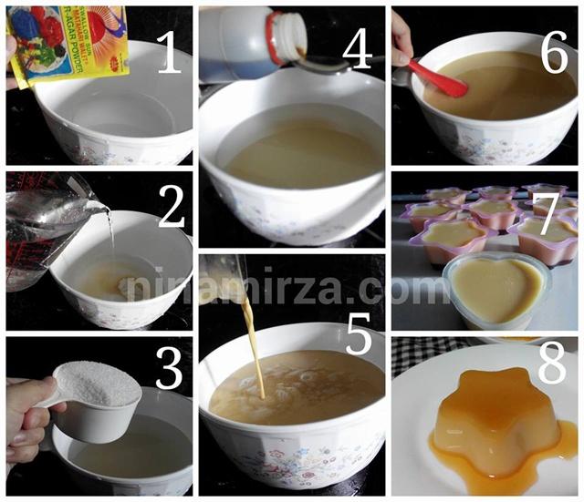 Puding karamel Tanpa Telur step by step 1