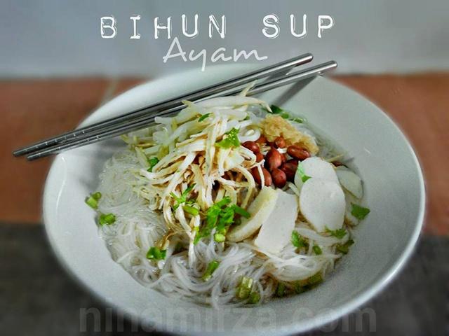 Bihun Sup Ayam Simple Mudah