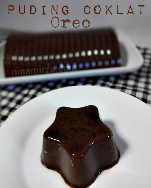 Puding Coklat Oreo Sedap Mudah