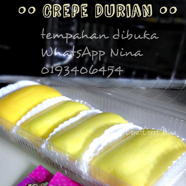 Crepe Durian Nina Mirza sedap isi banyak D24
