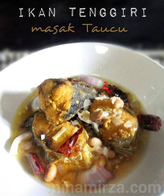 Ikan Tenggiri masak Taucu menu dalam pantang
