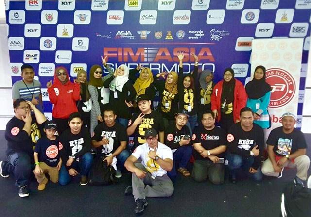 FIM Asia Supermoto 2016 bersama Kelab Blogger Ben Ashaari KBBA