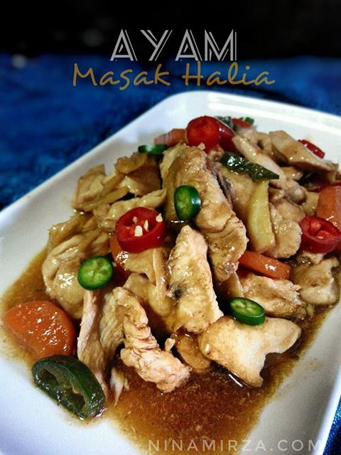Ayam Masak Halia Paling Senang Sedap