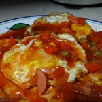 Telur Mata Masak Masam Manis menu ringkas cepat mudah