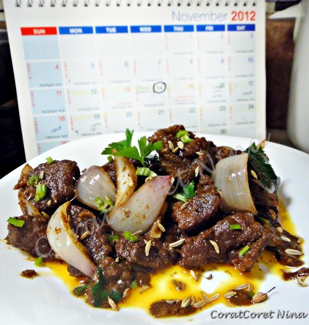 Daging Korban Goreng Berempah Simple Mudah Lembut moist sedap