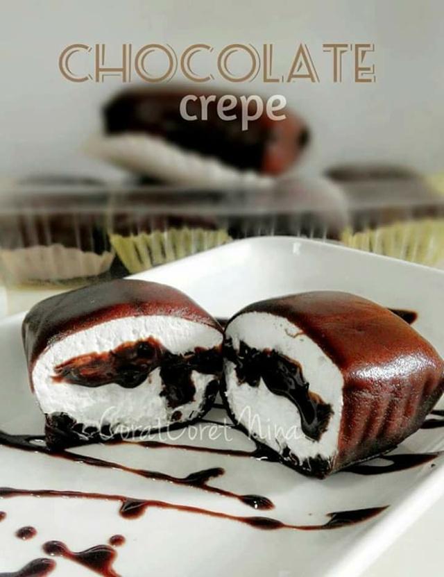 Resipi Crepe Chocolate Viral Sukatan Cawan