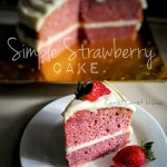 Simple Strawberry Cake.. Senang, blend aje!