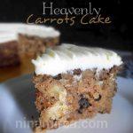 Resepi Heavenly Carrots Cake | Jom buat sendiri, senang aje buatnya… Sukatan Cawan