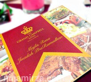 Buffet Iftar Ramadhan 2016 Grand Campbell Hotel KL