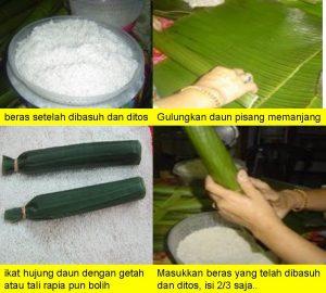 Balut gulung lontong daun pisang