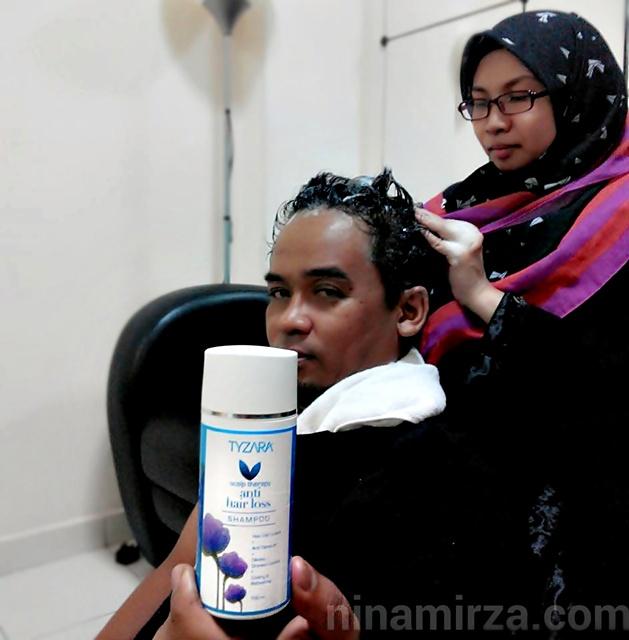 Tyzara Shampoo Berkesan Rawat Rambut Gugur Lepas Bersalin Kelemumur