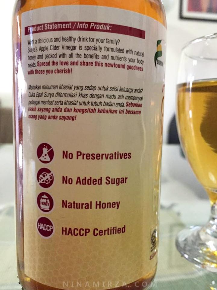 Surya Apple Cider Vinegar with Natural Honey