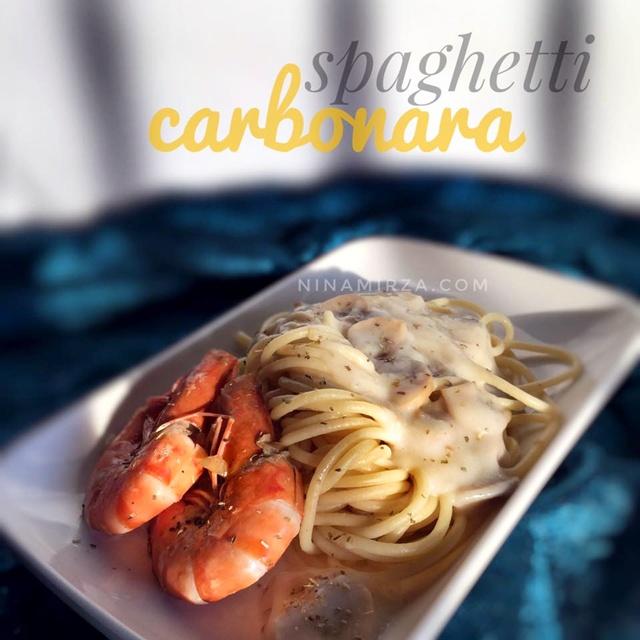 Resepi Spaghetti Carbonara Paling Senang Sedap