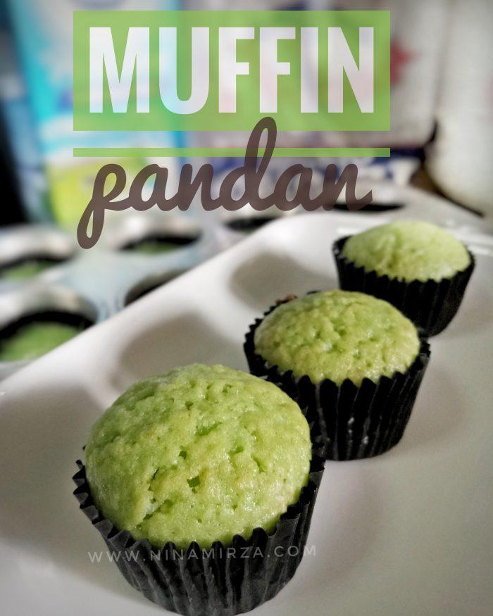 Menu minum petang cepat mudah muffin pandan