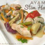 Resipi Eat Clean : Ayam Stim Halia  Mudah Cepat
