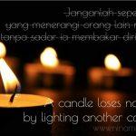 Benarkah  lilin membakar diri?