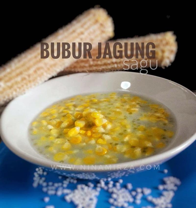 Resipi Bubur Jagung Sagu