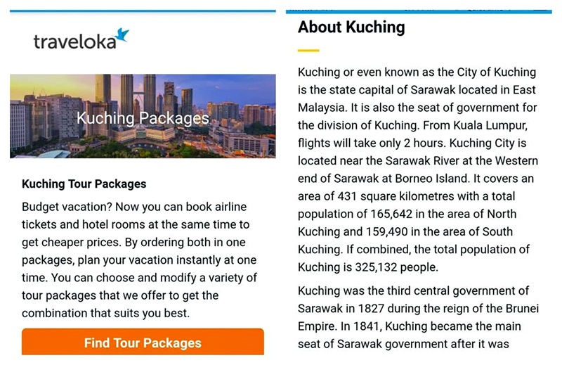 Traveloka Kuching Tour Packages