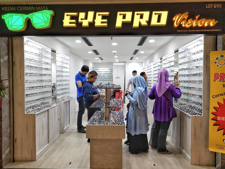 Kedai spek cermin mata murah EYE PRO VISION Sungei Wang