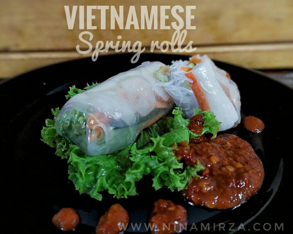 Resipi cara buat vietnam  sprin roll