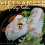 Resipi cara buat Vietnam Spring Roll