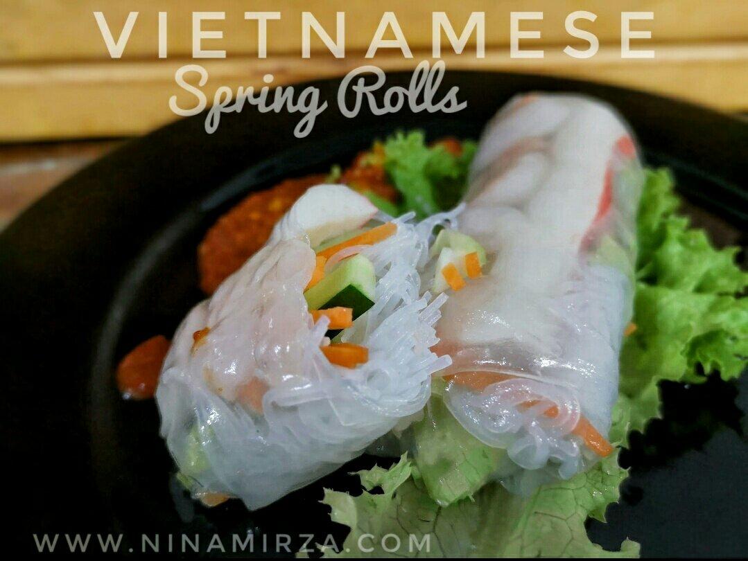 Cara buat resipi vietnam speing rolls