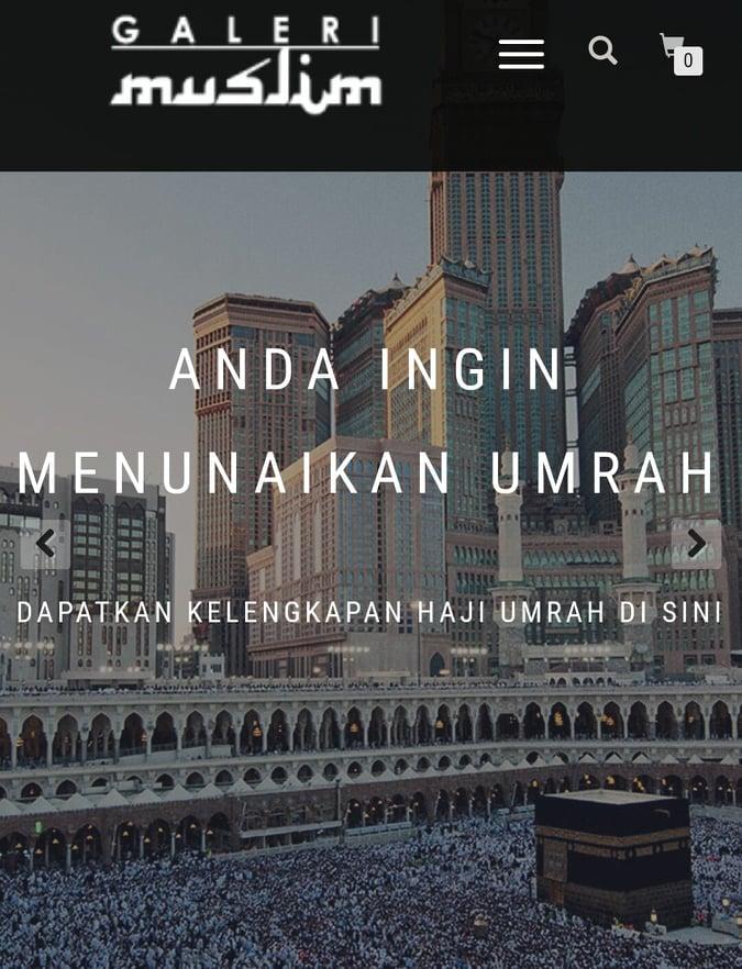 Kat mana beli ONLINE set Kelengkapan Umrah Haji | Galeri Muslim