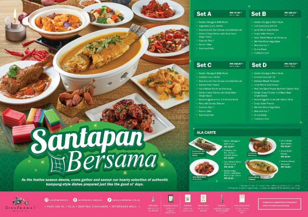 Set Buka Puasa Santapan Bersama Grandmama's Restaurant KL