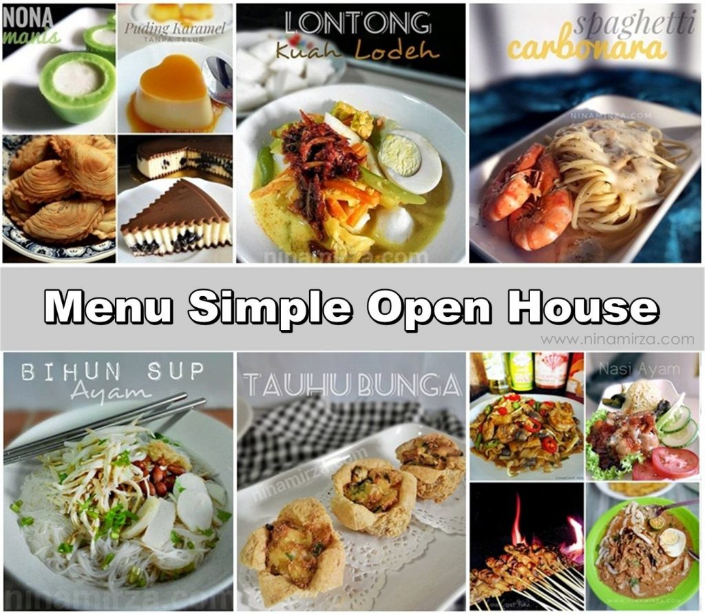 Apa menu best simple open house