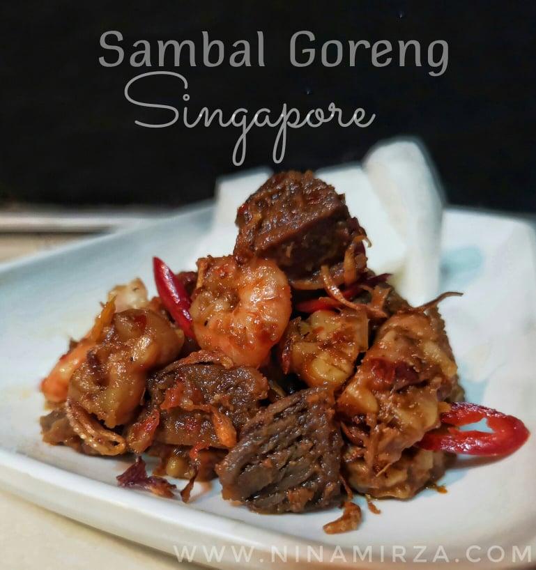 Menu Raya Wajib Ada Sambal Goreng Singapore Sedap Mudah