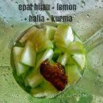 Jus Detox Homemade Epal Kurma Halia Lemon