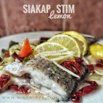 Eat Clean Cara Masak Resipi Ikan Siakap Stim Lemon