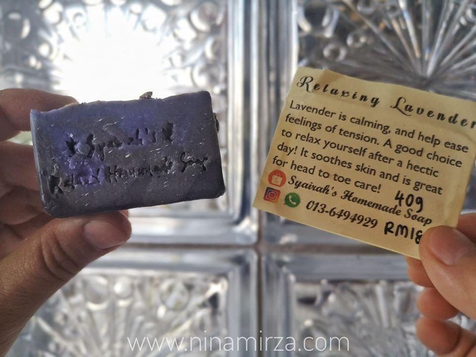 SYAIRAH'S HOMEMADE SOAP LAVENDER