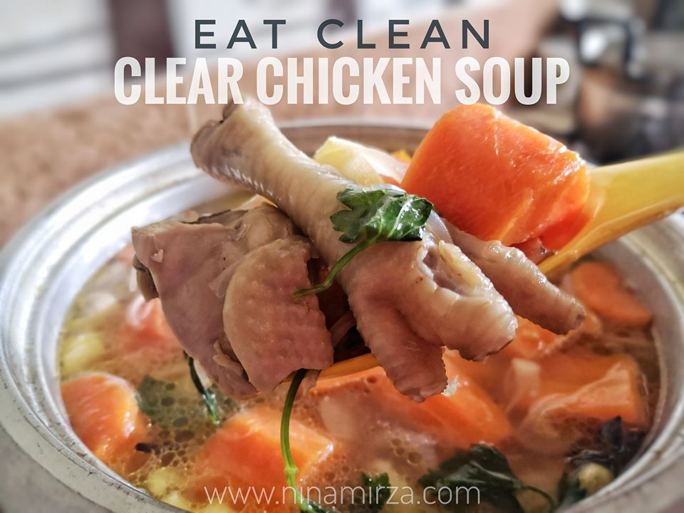 EatClean Resipi Sup Ayam Clear Chicken Soup