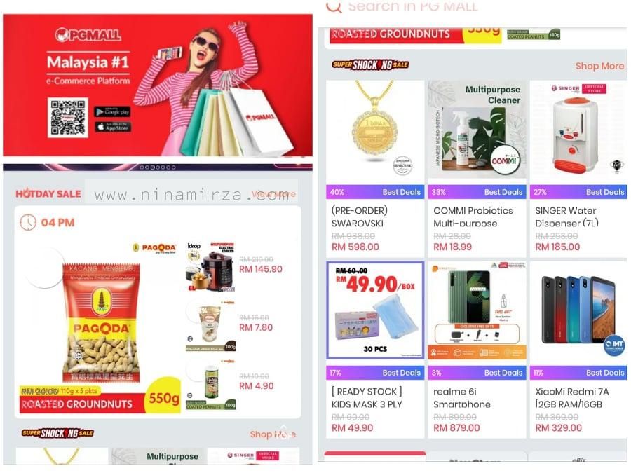 PG Mall 20% cashback Maybank QRPay Shopping Online Untung Giler