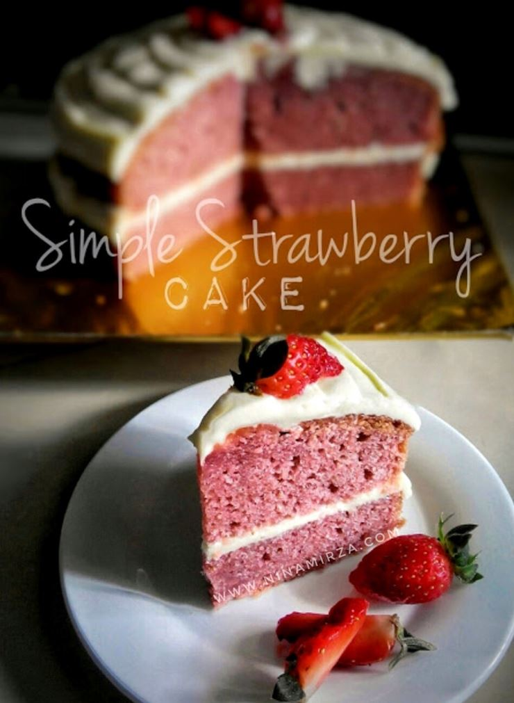 Resipi Kek Paling Mudah Sedap Strawberi Cake Blended