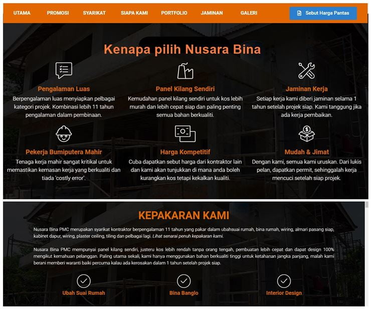 TIPS Renovation Ubahsuai Rumah Kontraktor NUSARA BINA