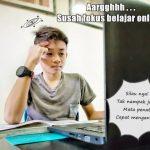 Anak Rabun Silau Stress Belajar Online
