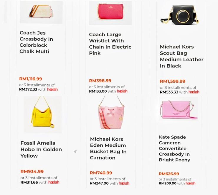 Shopping Branded Handbag SELLECTION.COM Bayar Ansuran