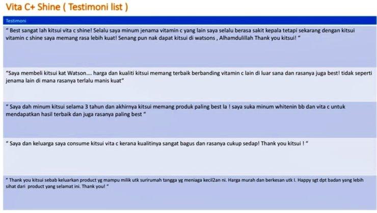 Review KITSUI Vita C+Shine Vitamin C imunisasi badan 1000mg