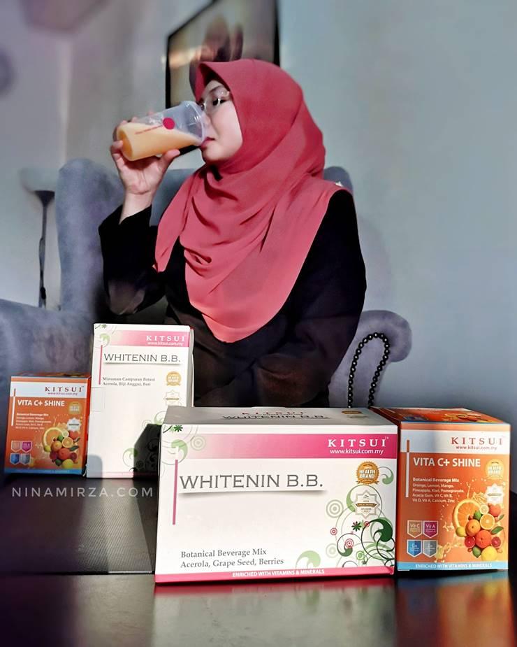 Review KITSUI VitaC+Shine  dan Whitenin BB untuk penjagaan kesihatan dan kecantikan